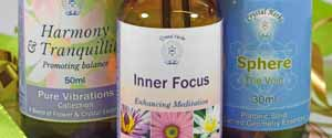 Three bottles of Essences to help with meditation