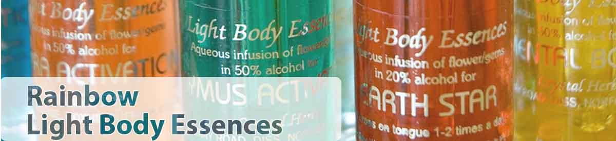 Rainbow Light Body Essence bottles - close up