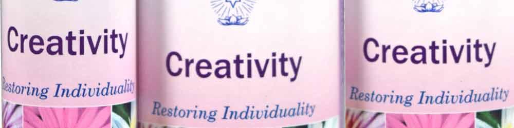 Creativity Essences - close up of a 10ml & 25ml bottles