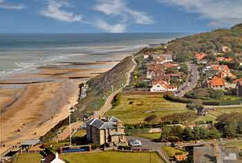 Cromer beach and town as seen from the church tower